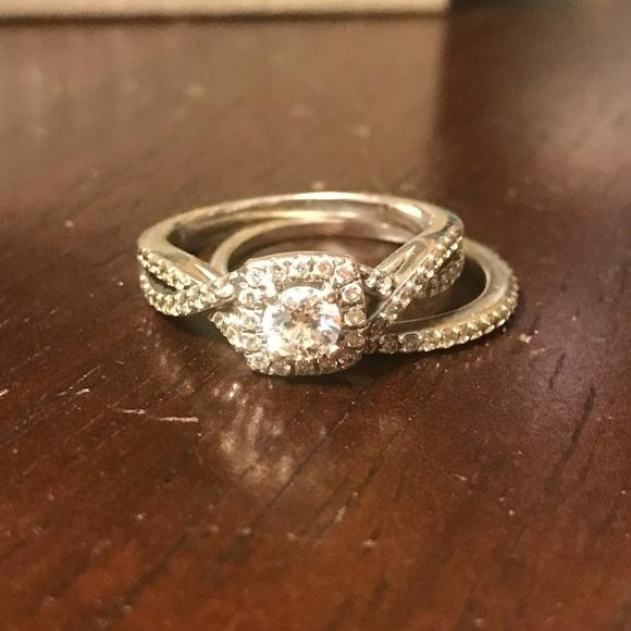 Zales Wedding Sets.White Gold Bridal Set Engagement Ring Size 7 5